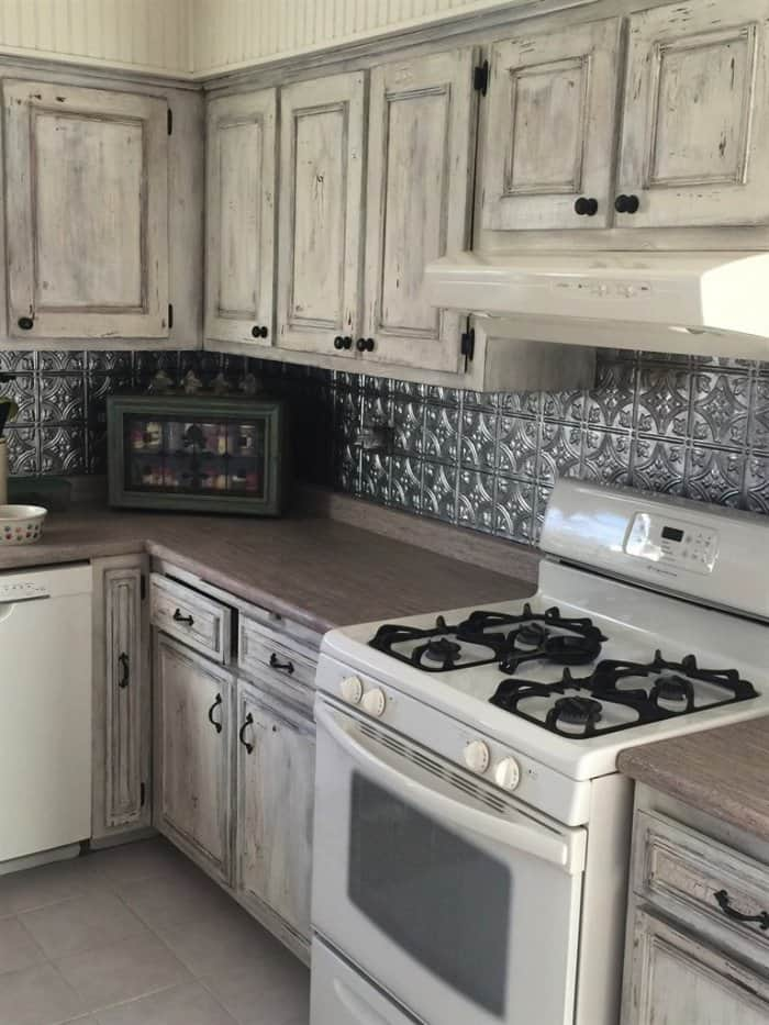 White Wash Distressed Cabinets   Best Way To Clean Kitchen Cabinets