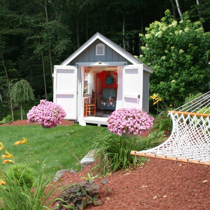 Decorated Shed With In Landscaping