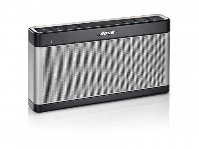 Product shot of a Bose SoundLink Bluetooth Speaker III.