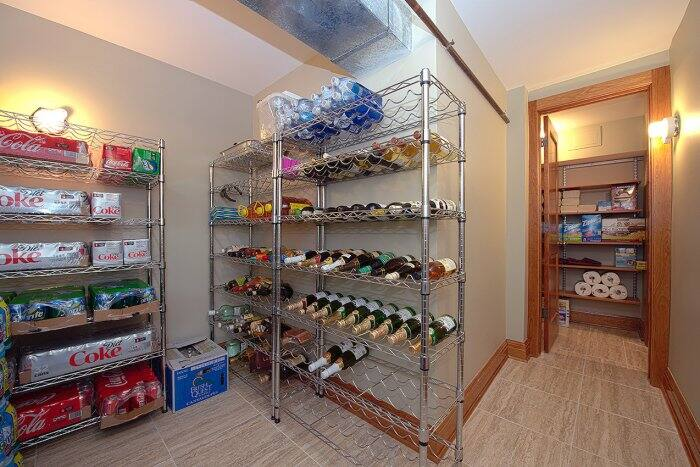 pantry room in basement