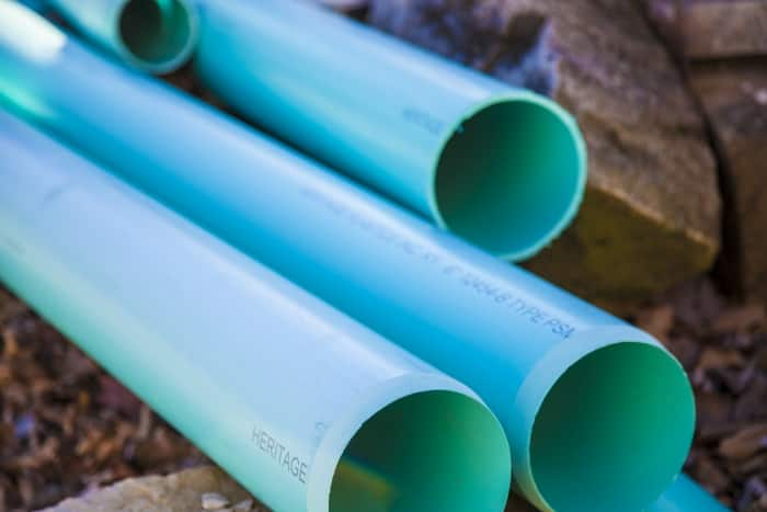 Set of blue water pipes
