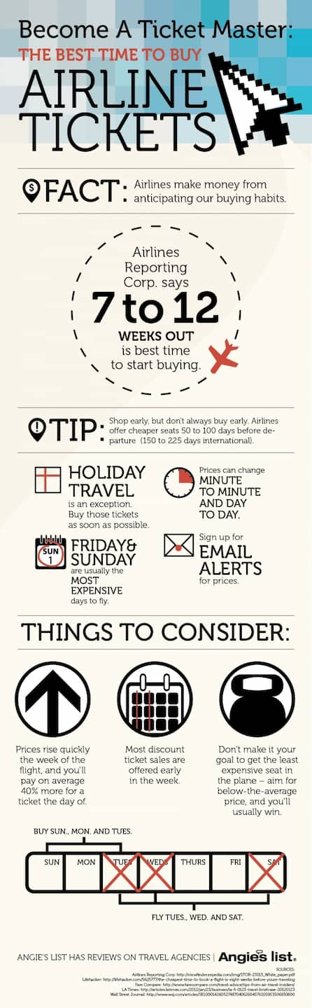 The Best Time To Buy Airline Tickets Angie S List