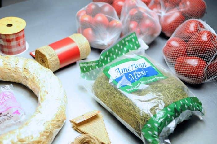 apple wreath supplies