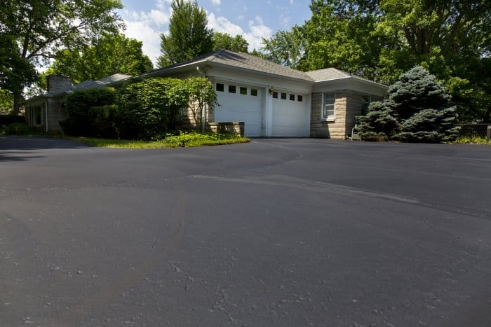 asphalt driveway for brick ranch house (Photo by Eldon Lindsay)