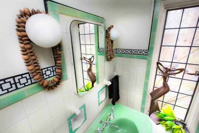 2016 Decorators' Show House bathroom designed by Silver Crow Studios.