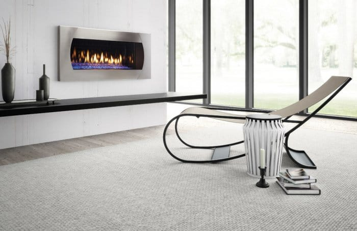 contemporary gas fireplace, wall mounted