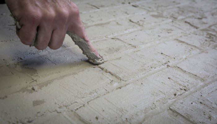 Silver Crow Studios' Sean Sheppard making faux brick by hand