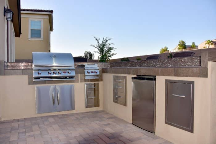 The addition of an outdoor kitchen meant there could be plenty of entertaining. (Photo by Reuban Padilla)