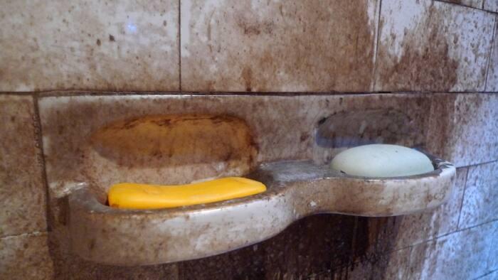 bar soap in shower
