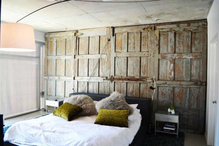 Guest Bedroom With Barnwood Wall