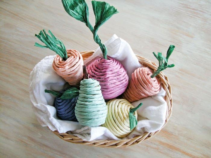 homemade cat toys in basket