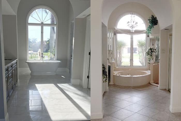 bathroom remodel before and after. master bathroom remodels before, Bathroom decor