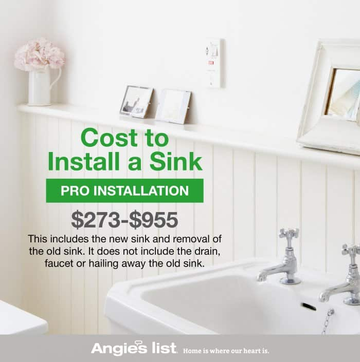 How to Install a Bathroom Sink Angies List
