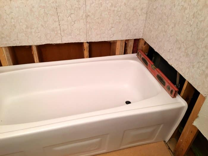 Plumb Bathtub Installation