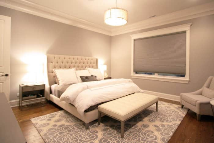 bedroom with blackout blinds