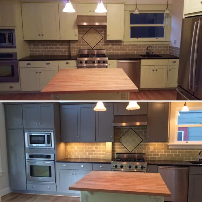 Lowe is pleased with the results of his kitchen project. (Photo courtesy of Angie's List member Jeff Lowe of Portland, Oregon)
