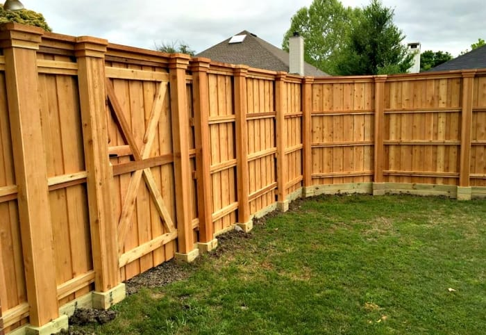 fences guide to fencing costs materials angie s list rh angieslist com  types of wood privacy fences for backyard
