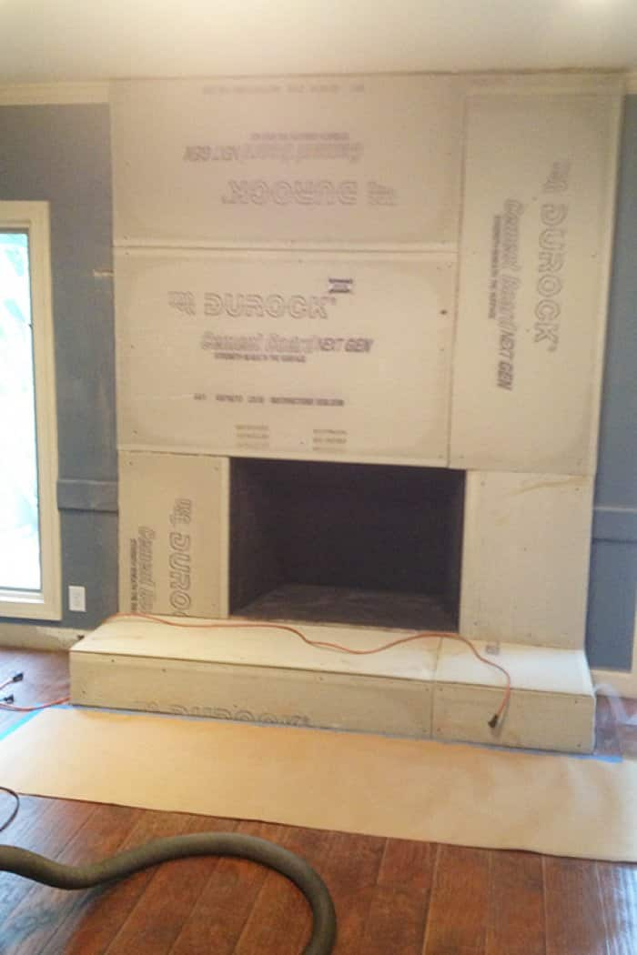 Cement Board For Fireplace Part - 28: Cement-board-on-fireplace-remodel-process