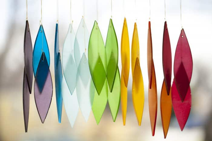 rainbow colorful wind chime