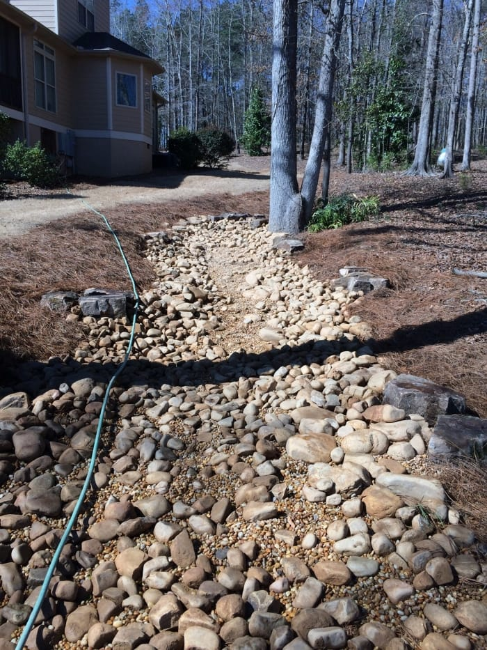 dry creek bed used for yard drainage & How to Solve Yard Drainage Problems | Angieu0027s List