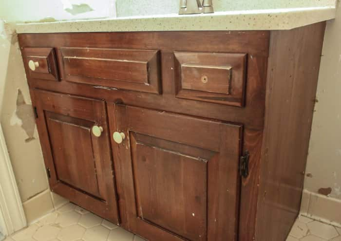 Old Bathroom Cabinet