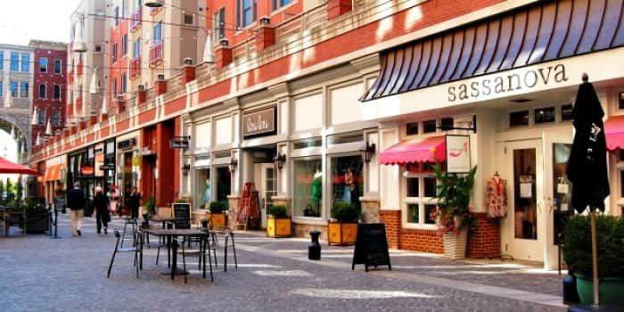 Downtown Bethesda offers residents a vibrant area for eating and shopping. (Photo courtesy of Montgomery County, Maryland)