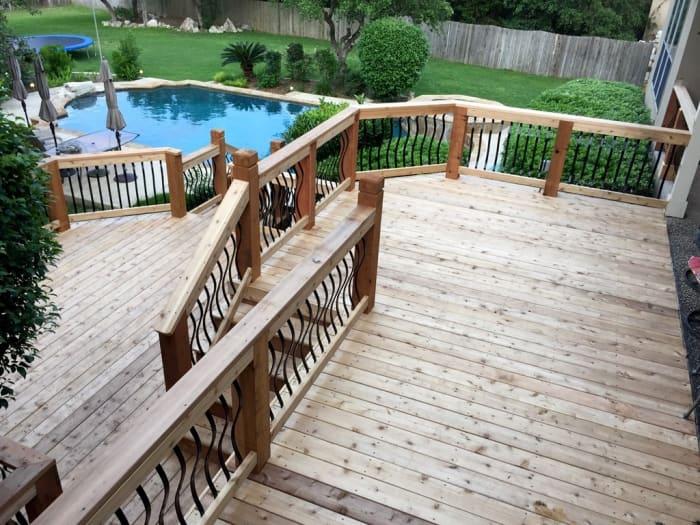multi-level cedar deck