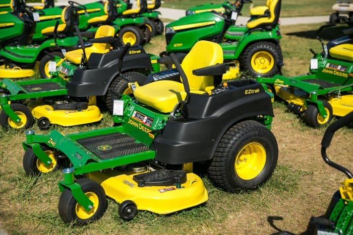 John Deere riding mowers (Photo by Brandon Smith)