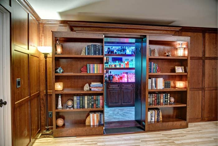 Movable Bookshelves Can Hide A Secret Room
