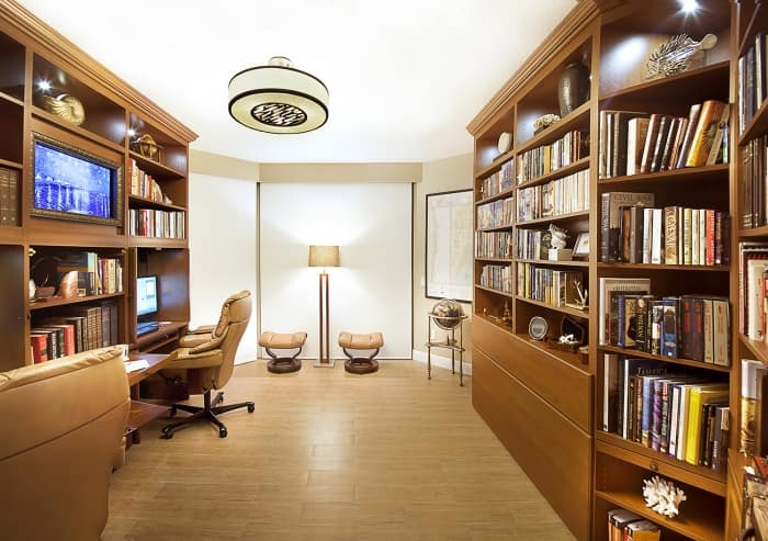 library and home office