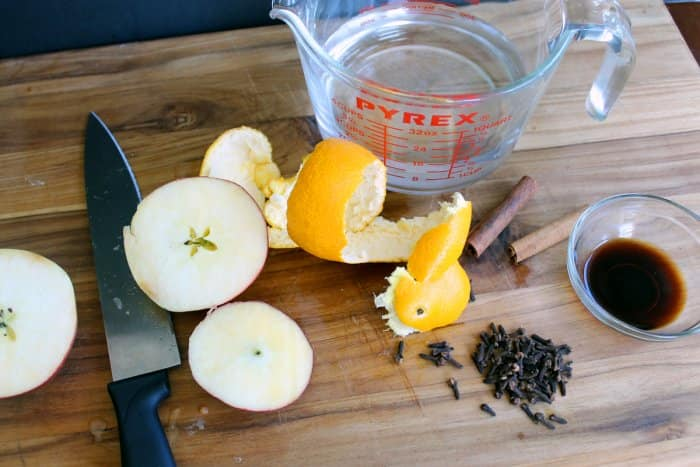 fall spice simmer pot ingredients
