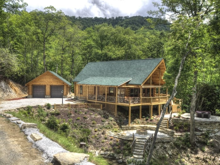 Log home floor plans over 5 000 square feet for How much does it cost to build a small cottage