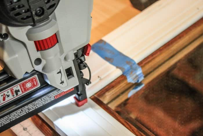 securing molding with finish nails