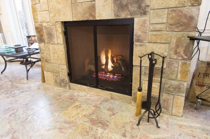 Tile fireplace - Fireplaces Angie's List
