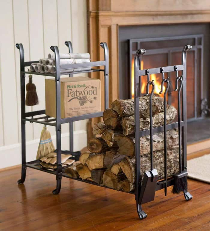 Plow & Hearth firewood rack