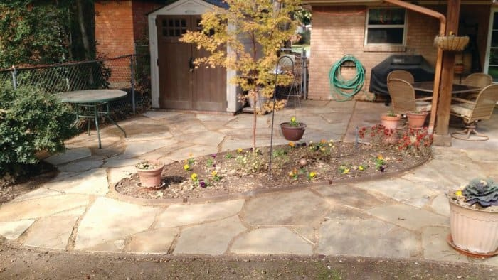 A Flagstone Extension To A Covered Patio In Hurst, Texas. (Photo By Member  Member Neil K.) Cost: $3,000, Based On An Average Of $20.80 Per Square Foot