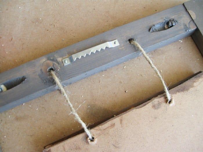 wall hanger on wood frame