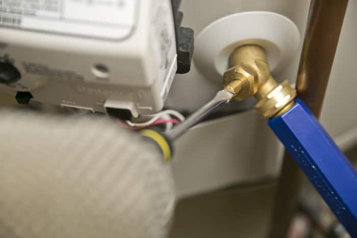 Close drain valve.