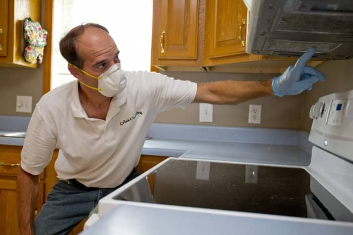 biohazard expert inspects meth contaminated home