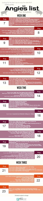 Angie's List Gardens schedule Indiana State Fair