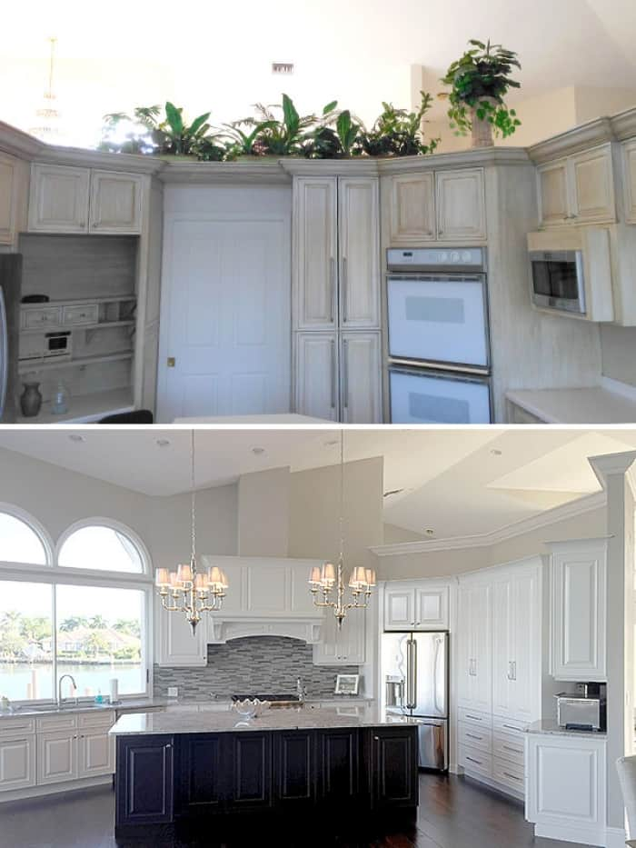 before and after of kitchen remodel