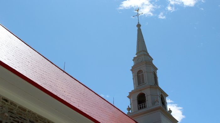 Lightning Rods On Church Roof