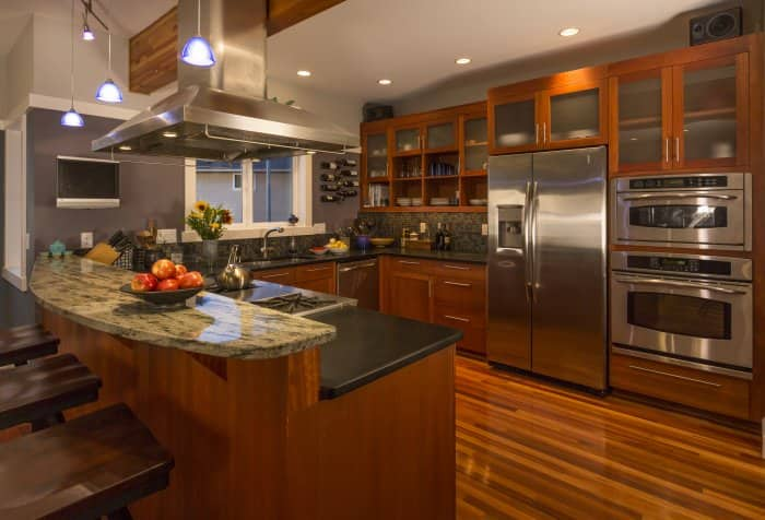 A luxury kitchen