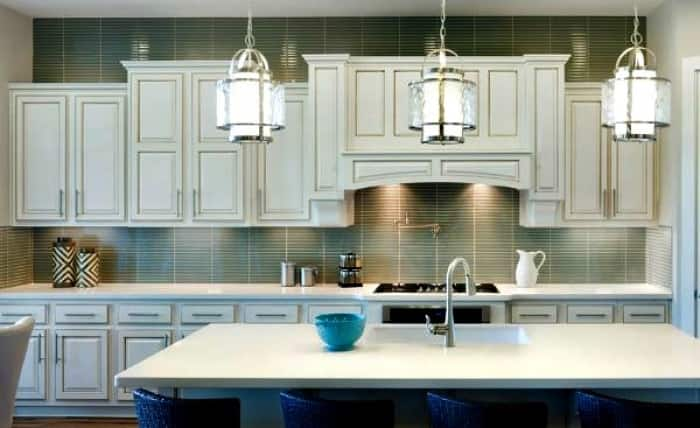 to extending your backsplash tiles to the ceiling lay the tile