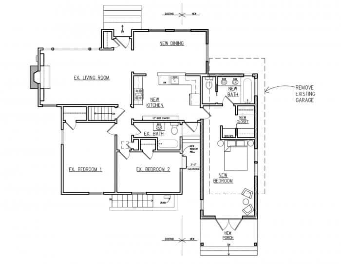 Home Remodel Blueprint Along With The New Master Bedroom