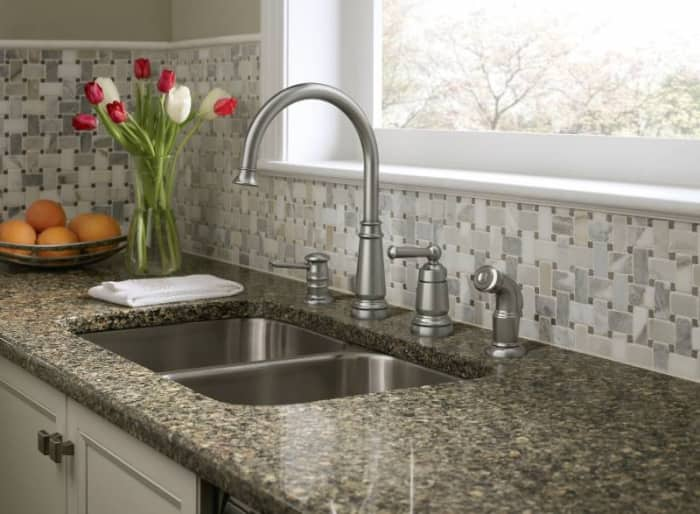 moen faucet with side spray