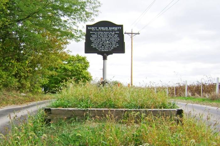 Nancy Kerlin Barnett, Amity, odd Indiana, grave