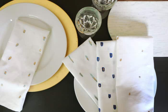 napkins on table