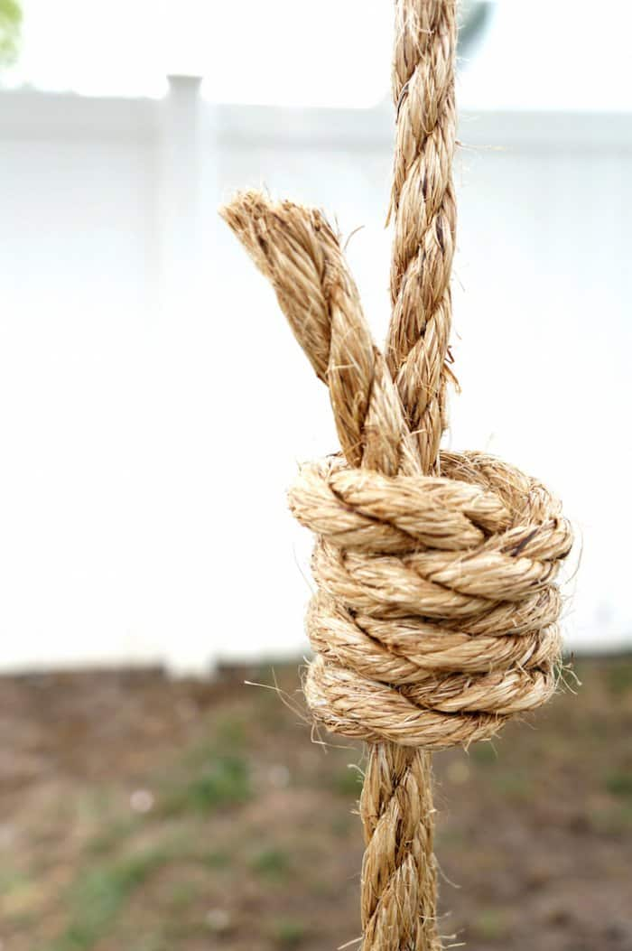 knot for DIY tree swing