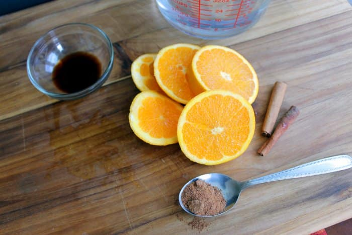 orange cinnamon spice simmer pot recipe